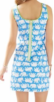 1ee88d8037cd Lilly Pulitzer Cathy Shift Dress in Tusk in Sun...fun colored zipper and