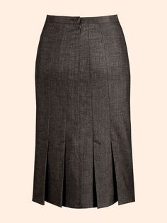 HP Pencil skirt - draft double darts into seams with kick pleats, full CB seam with zip.  LOVE THIS!