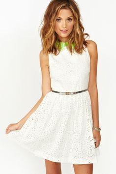Pop Crochet Dress