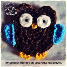 Crochet Owl Appliqué - Free Pattern