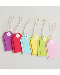 Use these birthday gift tags as storage labels! Get them here: http://www.bhg.com/shop/world-market-solid-birthday-gift-tags-set-of-12-p5183657ee4b01f79b0fb97ff.html?mz=a