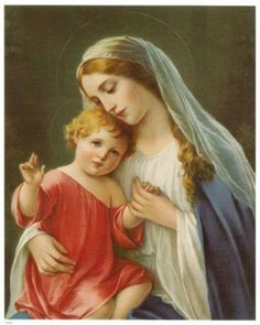 Catholic art print picture of the madonna and x 10 printready to framethis lovely picture shows our blessed mother as she sits with the holy child jesus on her lap. Jesus And Mary Pictures, Catholic Pictures, Mary And Jesus, Blessed Mother Mary, Blessed Virgin Mary, Catholic Art, Religious Art, Religious Images, Catholic Blogs