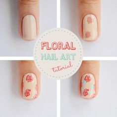 Tutorial - Nail art floral  : via Tudo Make – Maior blog de maquiagem, beleza e tutoriais de Curitiba.
