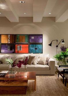 plafond lumineux, spots de plafond, salle de séjour originale