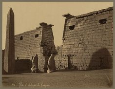 vintage everyday: Photos of Ancient Egyptian Monuments More Than 100 Years Ago