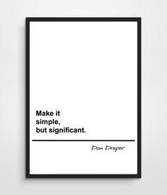 Don Draper quote from Mad Men par simplekidindustries sur Etsy
