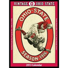 Vintage Ohio State Football Wall Calendar: The 2013 Vintage Ohio State Buckeyes Football Calendar features archival-quality images of vintage game-day football program art from the early 1900s – 1960s.  $19.95  http://www.calendars.com/Ohio-State-Buckeyes/Vintage-Ohio-State-Football-2013-Wall-Calendar/prod201300009732/?categoryId=cat00627=cat00627#