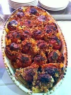 Pomodori con riso #tomatoes #checcoercarettiere #rome