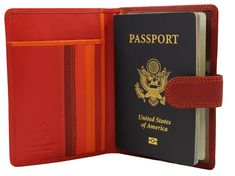 Visconti RB 75 Multi Colored Passport Holder/Wallet (Red)