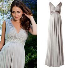 Wholesale cheap evening gown 2014 online, 2014 spring summer - Find best glamorous sheath gray maternity v-Neck evening dresses chiffon ruffles With sash full length charming formal gowns For pregnant at discount prices from Chinese evening dresses supplier on DHgate.com.