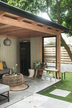 Pergola Ideas For Patio Key: 1680889294 Outdoor Rooms, Outdoor Decor, Garden Buildings, Patio Design, Garden Design, Garden Room, Backyard Landscaping Designs, Pergola Plans, Balcony Design