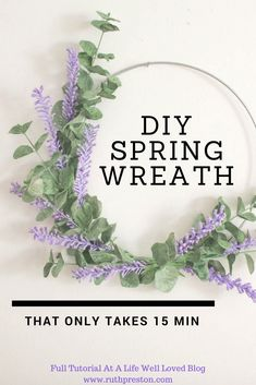 Are you ready to add some Spring to your house?! This DIY spring wreath only takes 15 minutes to make and costs less than 10$! If I can do it, YOU can do it :) Summer Minimalist, Diy Spring Wreath, Burlap Wreaths, Wreaths For Front Door, Deco Mesh, Preston, Seasonal Decor, Bedroom Decor, Crafty