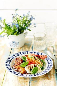 Grillattu vesimeloni-halloumisalaatti | K-ruoka #grillaus