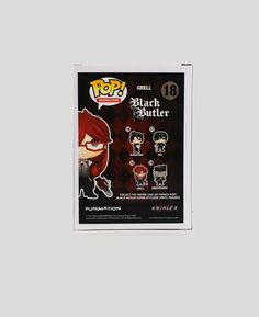 "- ""I am the queen of all fruits!"" - Grell Sutcliff, Black Butler - Stylized Funko Pop! figure featuring Grell from Black Butler! - 1 of 4 in the Black Butler collection of Pops"