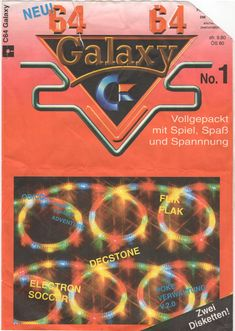 C64 Galaxy Diskmag, Issue 1