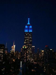 Empire State Building in NYC celebrated World Autism Awareness Day!