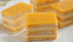 Šťavnatý dezert: Tvarohové rezy s pomarančovým sirupom | DobreJedlo.sk Czech Recipes, Hungarian Recipes, Cake Bars, Sweets Cake, Asian Desserts, Piece Of Cakes, Sweet And Salty, Baked Goods, Sweet Recipes