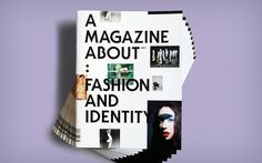 A Magazine About: Fashion and Identity   Slanted - Typo Weblog und Magazin