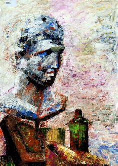 Watercolour man sculpture