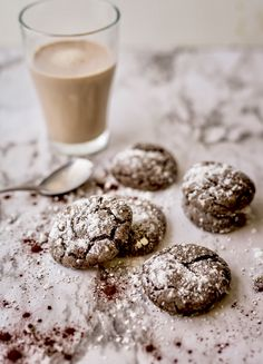 Chocolate chocolate crinkle cookies withe 4 ingredients ❤️