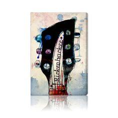 Oliver Gal 'Rickenbacker Headstock' Fine Art