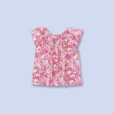 Liberty print blouse PINK/MULTICOLORED Girl - Boys and girls Clothes - Jacadi Paris