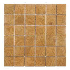 SomerTile Wood Grain Brown Porcelain Mosaic Tile (Pack of 10) | Overstock.com Shopping - Big Discounts on Floor Tiles