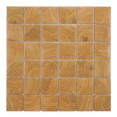 SomerTile Wood Grain Brown Porcelain Mosaic Tile (Pack of 10) | Overstock.com Shopping - Big Discounts on Floor Tiles