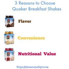 3 Reasons to Choose Quaker Breakfast Shakes #Ad