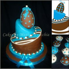 TORTA DECORADA PARA BABY SHOWER | TORTAS CAKES BY MONICA FRACCHIA