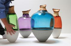 Vases | Dining-table accessories | Transformed Stacking Vessels | ... Check it out on Architonic