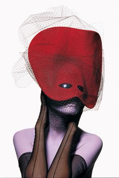 The Doge Knows: Philip Treacy's futuristic Venetian mask, photographed by Irving Penn for Vogue, December 1996. | Flickr - Photo Sharing!