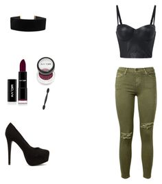 """""""Geen titel #7"""" by tatyana-hallaert on Polyvore featuring mode, Current/Elliott en Nly Shoes"""