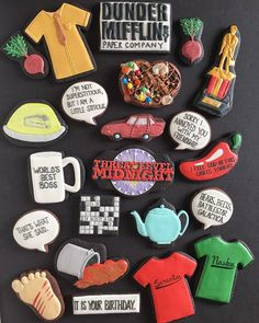 """A few weeks ago, I asked you guys which TV show you wanted to see turned into cookies. """"The Office"""" was the clear winner (though… Office Themed Party, Office Birthday, 14th Birthday, Office Parties, Grad Parties, It's Your Birthday, Office Quotes, Office Humor, The Office Show"""