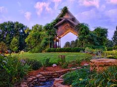 Gazebo in the gardens by Christie King, via 500px