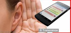 Transcence App lets deaf people 'hear' http://newappsmedia.blogspot.com/2014/10/transcence-app-lets-deaf-people-hear.html
