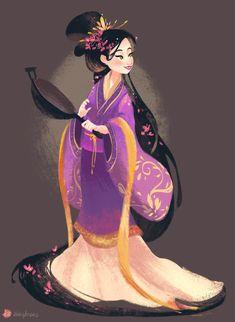Chinese version of Rapunzel (Tangled) mulan as rapunzel Rapunzel, Disney And Dreamworks, Disney Pixar, Disney Characters, Disney Princesses, Disney Dream, Disney Love, Princesa Mulan, Walt Disney