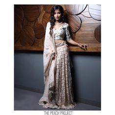 """18e57742a4c38c The Peach Project By Ayesha on Instagram  """"The Birdy Alex Lehenga Set from  our diwali and festive 2018 collection! Coming soon to our website."""