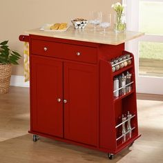 Shop for Simple Living Red Sonoma Kitchen Cart. Get free shipping at Overstock.com - Your Online Kitchen & Dining Outlet Store! Get 5% in rewards with Club O! - 16148028