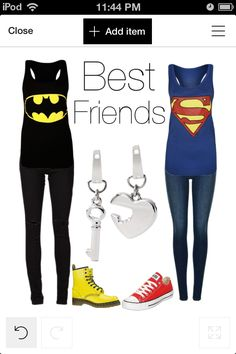 Batman and superman friend outfits