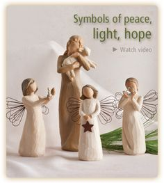 The official website of Willow Tree® by Susan Lordi. View, experience, discover, and shop the entire Willow Tree line. Willow Tree Nativity Set, Willow Tree Figures, Willow Tree Angels, Merry Little Christmas, Christmas Angels, All Things Christmas, Xmas, Happy Birthday Jesus, Christmas Decorations