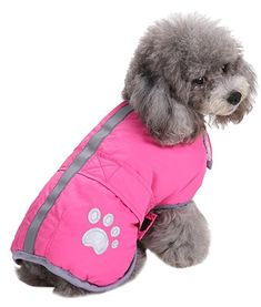 Cold Weather Dog Coats Loft and Reversible Winter Fleece Dog Vest Waterproof Pet Jacket Available in Extra Small, Small, Medium, Large and Extra Large sizes (Pink, M)