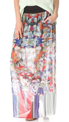 Clover Canyon Flower Tracers Maxi Skirt Shopbop $326