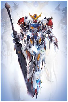 I can't build a Gundam, so I paint them Arte Gundam, Gundam Wing, Gundam Art, Gundam Wallpapers, Animes Wallpapers, K Dash, Barbatos Lupus Rex, Blood Orphans, Gundam Iron Blooded Orphans