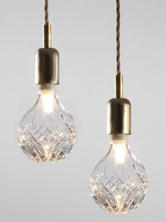 Lee Broom Crystal Bulb With Cable Fitting The Shop at Bluebird - geen DIY maar… Dining Room Lighting, Lighting Design, Decor Design, Pendant Light, Minimalist Lighting, Cool Lighting, Light, Rustic Lighting, Lights