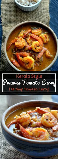 Kerala Style Prawns Tomato Curry - Shrimp Tomato Curry