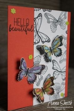 Occasions Catalog Sneak Peeks! Pretty butterfly card idea made using the Stampin' Up! Butterfly Gala stamp set and Butterfly Duet Punch.