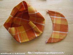 Simplesmente Artesanato: Boné de tecido para meninas-passo a passo