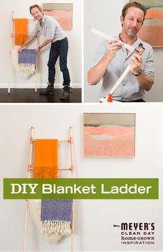 Build a fun and functional blanket ladder with this DIY from Apartment Therapy for Mrs. Meyer's Clean Day. It's easy to put together and makes a great gift for the quilter in your family!