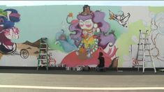 Denver artists brighten wall protecting students from Central 70 project Elementary Schools, Denver, My Arts, Students, Artists, Creative, Wall, Projects, Design